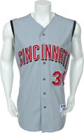 Baseball Collectibles:Uniforms, 2001 Ken Griffey, Jr. Game Worn Cincinnati Reds Jersey....