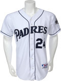 Baseball Collectibles:Uniforms, 2001 Rickey Henderson Game Worn San Diego Padres Jersey....
