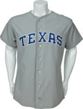 Baseball Collectibles:Uniforms, 1992 Nolan Ryan Game Worn Texas Rangers Jersey....