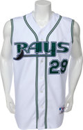 Baseball Collectibles:Uniforms, Early 2000's Fred McGriff Game Worn Tampa Bay Devil Rays Jersey....