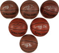 Basketball Collectibles:Balls, 1990's Shaquille O'Neal Signed Basketballs Lot of 6....