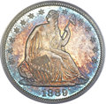 Proof Seated Half Dollars, 1889 50C PR66+ PCGS. CAC....