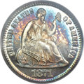 Proof Seated Half Dimes, 1871 H10C PR66+ Cameo PCGS. CAC....