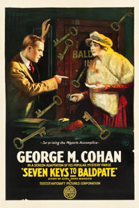 "Seven Keys to Baldpate (Artcraft, 1917). One Sheet (27"" X 41"")"