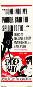 "Movie Posters:Horror, Spider Baby (American General Pictures, Inc., 1968). Insert (14"" X36"").. ..."