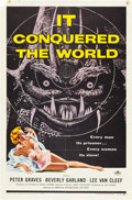 "Movie Posters:Science Fiction, It Conquered the World (American International, 1956). One Sheet (27"" X 41"").. ..."