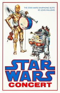 "Star Wars Concert (20th Century Fox, 1978). (24"" X 37"")"