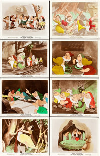 "Snow White and the Seven Dwarfs (RKO, 1937). Color- Glos Lobby Card Set of 8 (11"" X 14""). ... (Total: 8 Items)"