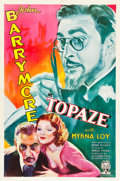 "Movie Posters:Drama, Topaze (RKO, 1933). One Sheet (27"" X 41"").. ..."