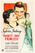"Movie Posters:Comedy, Thirty Day Princess (Paramount, 1934). One Sheet (27"" X 41"") StyleA.. ..."