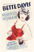 "Movie Posters:Crime, Marked Woman (Warner Brothers, 1937). One Sheet (27"" X 41"").. ..."