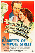 """Movie Posters:Romance, The Barretts of Wimpole Street (MGM, 1934). One Sheet (27"""" X 41"""") Style D.. ..."""