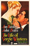 "Movie Posters:Melodrama, Life of Vergie Winters (RKO, 1933). One Sheet (27"" X 41"").. ..."