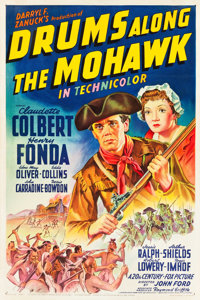 "Drums Along the Mohawk (20th Century Fox, 1939). One Sheet (27"" X 41"") Style A"