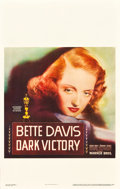 "Movie Posters:Drama, Dark Victory (Warner Brothers, 1939). Window Card (14"" X 22"").. ..."