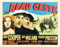 "Movie Posters:Adventure, Beau Geste (Paramount, 1939). Half Sheet (22"" X 28"") Style B.. ..."