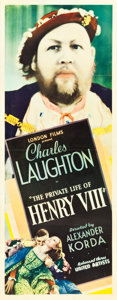 "Movie Posters:Drama, The Private Life of Henry VIII (United Artists, 1933). Insert (14""X 36"").. ..."