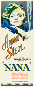 "Movie Posters:Drama, Nana (United Artists, 1934). Insert (14"" X 36"").. ..."