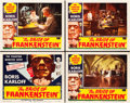 "Movie Posters:Horror, The Bride of Frankenstein (Realart, R-1953). Lobby Card Set of 4 (11"" X 14"").. ... (Total: 4 Items)"