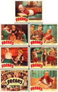 "Movie Posters:Horror, Freaks (Excelsior, R-1949). Title Lobby Card and Lobby Cards (6)(11"" X 14"").. ... (Total: 7 Items)"