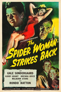 "The Spider Woman Strikes Back (Universal, 1946). One Sheet (27"" X 41"")"
