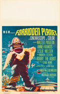 "Movie Posters:Science Fiction, Forbidden Planet (MGM, 1956). Window Card (14"" X 22"").. ..."
