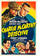 "Movie Posters:Comedy, Charlie McCarthy, Detective (Universal, 1939). One Sheet (27"" X41"").. ..."
