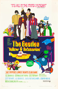 "Yellow Submarine (United Artists, 1968). Rolled One Sheet (27"" X 41"")"