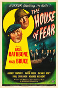 "Movie Posters:Mystery, The House of Fear (Universal, 1945). One Sheet (27"" X 41"").. ..."