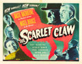 "Movie Posters:Mystery, The Scarlet Claw (Universal, 1944). Half Sheet (22"" X 28"").. ..."