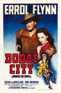 "Movie Posters:Western, Dodge City (Warner Brothers, 1939). One Sheet (27"" X 41"") Style A....."