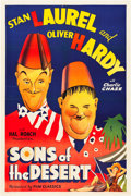 "Movie Posters:Comedy, Sons of the Desert (Film Classics, R-1940s). One Sheet (27"" X 41"").. ..."