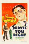 "Movie Posters:Short Subject, Serves You Right (Warner Brothers, 1935). One Sheet (27"" X 41"")....."