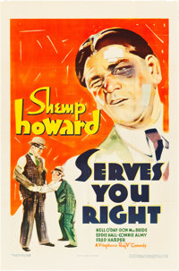 """Serves You Right (Warner Brothers, 1935). One Sheet (27"""" X 41"""")"""