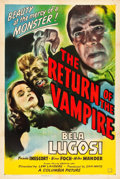 "Movie Posters:Horror, The Return of the Vampire (Columbia, 1943). One Sheet (27"" X 41"")....."