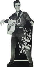 "Movie Posters:Elvis Presley, Loving You (Paramount, 1957). Standee (33"" X 74"").. ..."