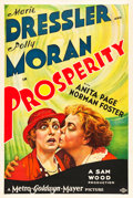 "Movie Posters:Comedy, Prosperity (MGM, 1932). One Sheet (27"" X 41"") Style D.. ..."