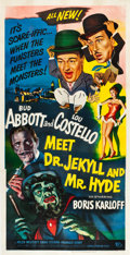 "Movie Posters:Comedy, Abbott and Costello Meet Dr. Jekyll and Mr. Hyde (UniversalInternational, 1953). Three Sheet (41"" X 81"").. ..."