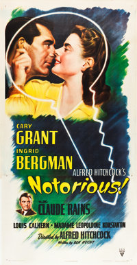 "Notorious (RKO, 1946). Three Sheet (41"" X 81"")"