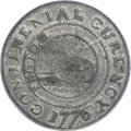 Colonials, 1776 $1 Continental Dollar, CURENCY, Pewter VF25 PCGS. Newman 1-C,W-8445, R.3....