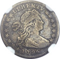Early Half Dimes, 1796 H10C LIKERTY VF20 NGC. V-1, LM-1, R.3....