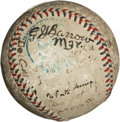 Autographs:Baseballs, 1919 Boston Red Sox Team Signed Baseball with Babe Ruth....