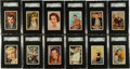"Non-Sport Cards:Sets, 1958 Atlantic Oil ""Film Stars"" SGC-Graded Complete Set (32). ..."