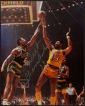 Basketball Collectibles:Photos, Wilt Chamberlain Signed Photograph....