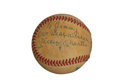 Baseball Collectibles:Hats, Mickey Mantle and Whitey Ford Multi Signed Baseball....