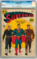 Golden Age (1938-1955):Superhero, Superman #12 (DC, 1941) CGC VG+ 4.5 Off-white pages....