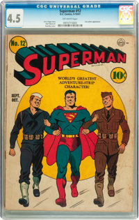 Superman #12 (DC, 1941) CGC VG+ 4.5 Off-white pages