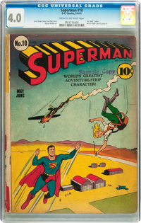 Superman #10 (DC, 1941) CGC VG 4.0 Cream to off-white pages