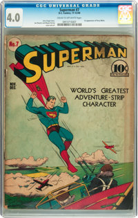 Superman #7 (DC, 1940) CGC VG 4.0 Cream to off-white pages