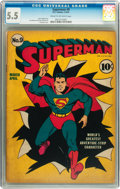 Golden Age (1938-1955):Superhero, Superman #9 (DC, 1941) CGC FN- 5.5 Cream to off-white pages....